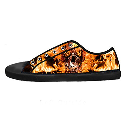 (Custom skull Women's Canvas shoes Schuhe Lace-up High-top Footwear Sneakers)
