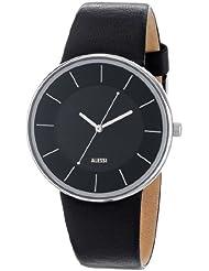 Alessi - Reloj para caballero de cuero Resistente al agua negro