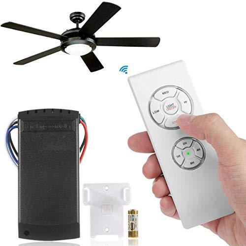 30m Universal Deckenventilator Licht Lampe Fernbedienung Kit & Timing Drahtlose Licht Fernbedienung Empfänger Für Deckenventilator (Der Lüfter Ist Nicht Im Lieferumfang Enthalten) (Decke Hunter-ventilatoren)