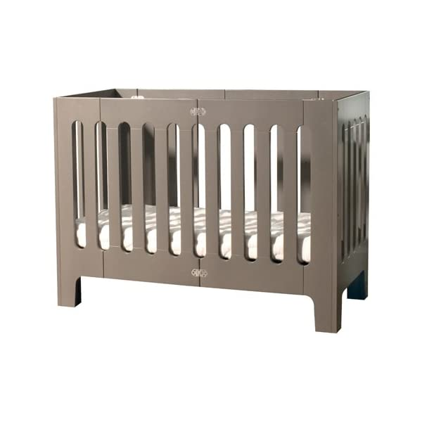 Bloom Alma Papa Baby Crib/Cot (Convertible, Sold Wood, 0-4 Years) (Frost Grey)  Alma Papa is suitable from newborn to 4 years, beautiful, modern solid wood crib with 2 mattress heights allow use as a bassinet & full-size crib patented compact-fold construction for easy storage & transport (durable storage bag available separately) open slats on all four sides maximize all important air-flow 1