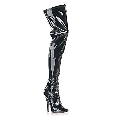 Pleaser Domina-3000 - sexy extrèmee fétiche bottes talon hauts chaussures femmes 36-48, US-Damen:EU-36 / US-6 / UK-3