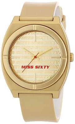 Miss Sixty STU007 - Reloj para niñas de cuarzo, correa de plástico color oro