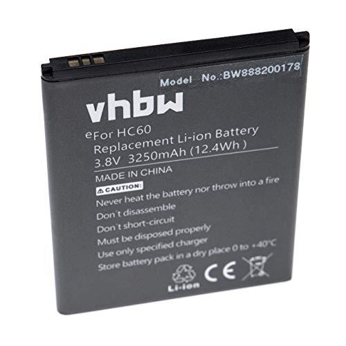 vhbw Li-Poly batteria 3250mAh (3.8V) per cellulari e smartphone Motorola Moto C Plus, C Plus Dual SIM, XT1723, XT1724, XT1725