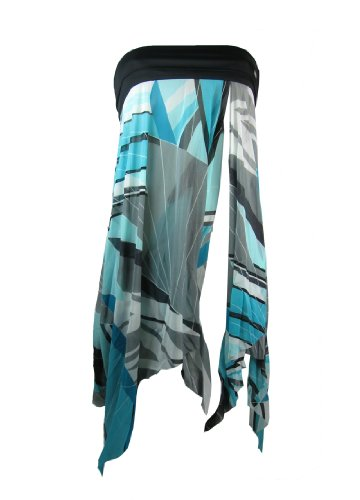 eleMar Damen Pareo Sarong, Netz Optik, 36-46, schwarz, NEU Blau