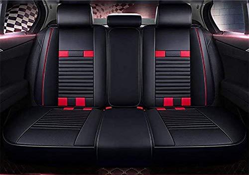 Couleur noir//rouge Housses de si/ège auto en simili cuir Kit complet pour Jeep Kompass /à partir de 2007