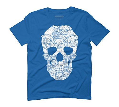 Pug Skull Men's Graphic T-Shirt - Design By Humans Royal Blue