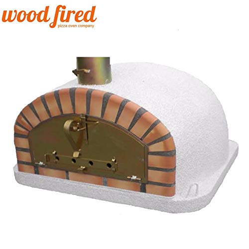 Maxi-Italian Wood Fired Pizza Oven In White, 90cm