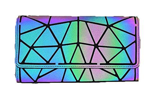 Ulalaza Geometric Luminous Tote Bag Holographich Monederos