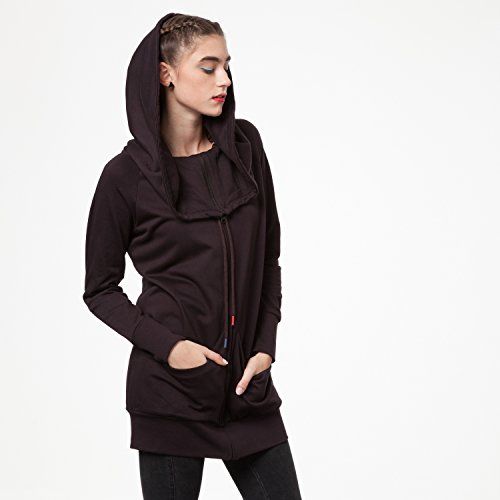 THOKKTHOKK TT1013 Yuki Zipjacket Java Woman aus 100% Biobaumwolle hergestellt // GOTS & Fairtrade Zertifiziert, Größe:L/XL - 5