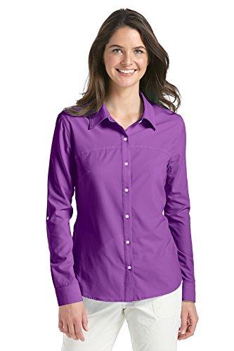 Coolibar Damen Sport Shirt UPF 50 Plus Huckleberry