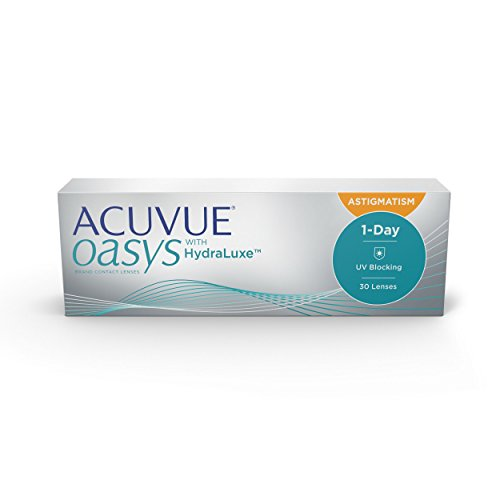 Acuvue Oasys 1-Day for Astigmatism Tageslinsen weich, 30 Stück/BC 8.5 mm/DIA 14.3 mm/CYL -2.25 / ACHSE 100 / -4 Dioptrien