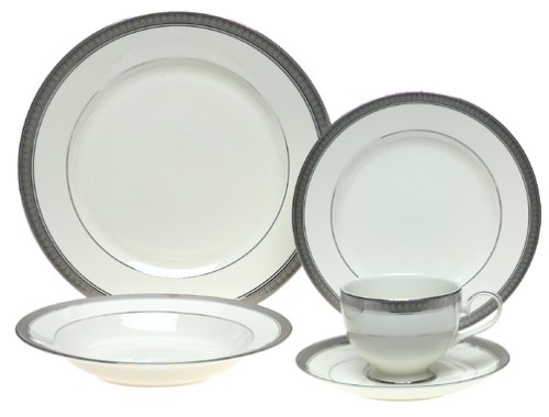 Mikasa Palatial Platinum 5-Piece Place Setting, Service for 1 by Mikasa