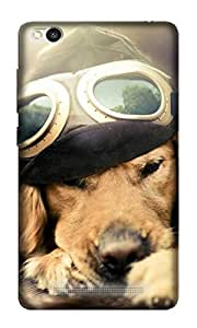 Abaci designed Redmi 3S Mobile Back cover with Perfect Matte finishing and Cute Dog Illustration design(Multicolor)