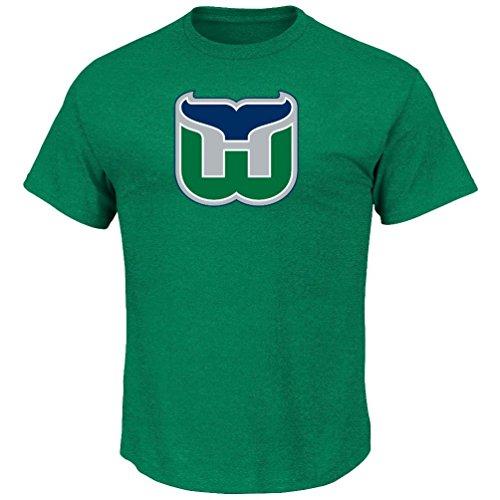 f57ff304a NHL Eishockey Shirt HARTFORD WHALERS Tek Patch Logo Majestic in SMALL (S)