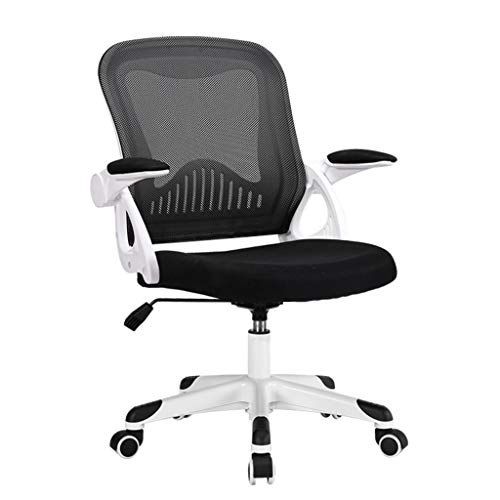 Dreh- & Arbeitshocker Stühle Büromöbel Bürostuhl Bürostuhl Bürostuhl Ergonomischer Drehstuhl Schlafplatz Kleiner Stuhl 360 ° drehbar einstellbar (Color : Black, Size : 57 * 57 * 90-99cm)