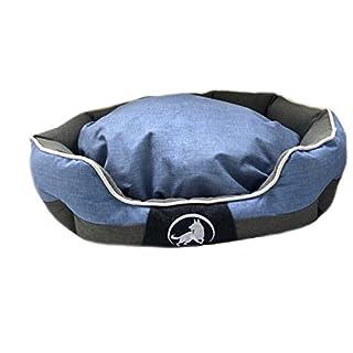 Aquagart Premium XL Hundebett für große Hunde I Hundekorb für große Hunde waschbar I Hundekissen robust I Hundekörbchen mittelgroße Hunde I Größe 100cm x 80cm x 25cm I blau (XL, Blau)