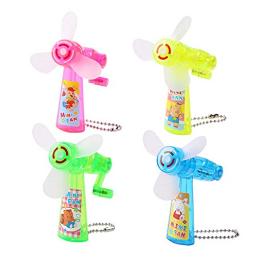 Set von vier kreativen kleinen Spielzeug Mini Manual Small Fan -
