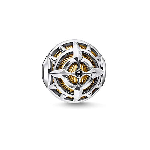 Thomas Sabo Damen-Bead Kompass gold 925 Sterlingsilber  gelbgold vergoldet gelbgoldfarben K0334-414-7