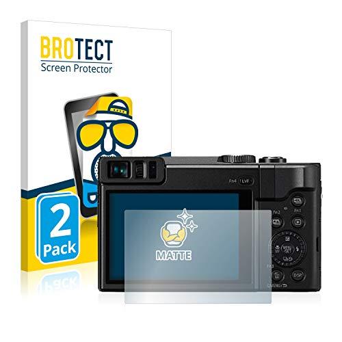 BROTECT Entspiegelungs-Schutzfolie kompatibel mit Panasonic Lumix DC-TZ91 (2 Stück) - Anti-Reflex, Matt