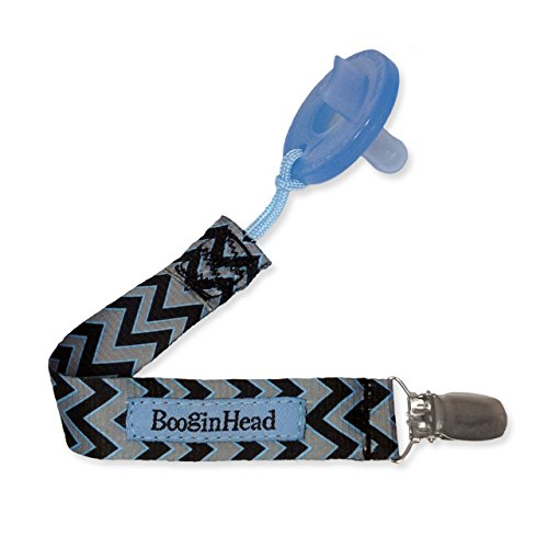 BooginHead PaciGrip Pacifier Holder in SEATTLE CHEVRON