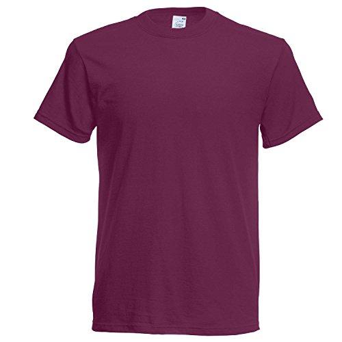 Fruit of the Loom Herren T-Shirt Ss022m Aubergine