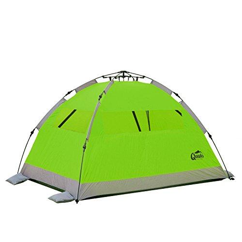 Qeedo - Quick Palm Strandmuschel grün mit UV-Schutz (UV80 nach UV-Standard 801) kleines Packmaß - schnell aufzubauender Sonnenschutz -