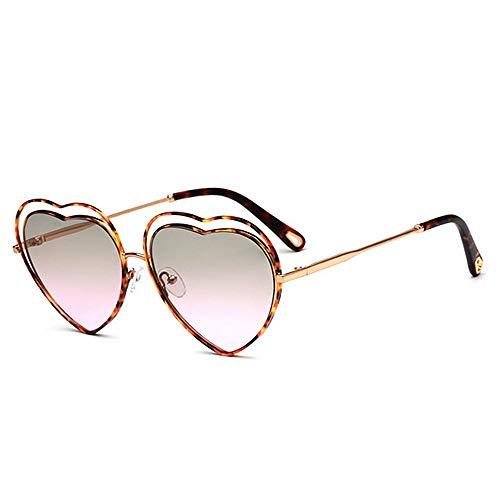 Yiph-Sunglass Sonnenbrillen Mode Frauen-Herz-Form-Sonnenbrille Farbiger Objektiv-UV400-Schutz, der das Radfahren läuft, das Fischen fährt (Farbe : C4)