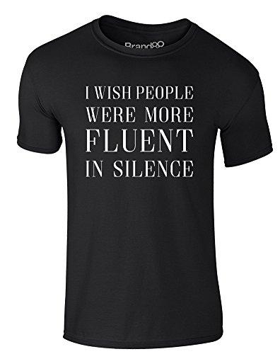 Brand88 - Fluent in Silence, Erwachsene Gedrucktes T-Shirt Schwarz/Weiß