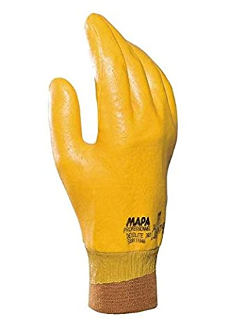 Mapa gants de protection 383 Professional dexilite, jaune (Lot de 2), 10, jaune, 2