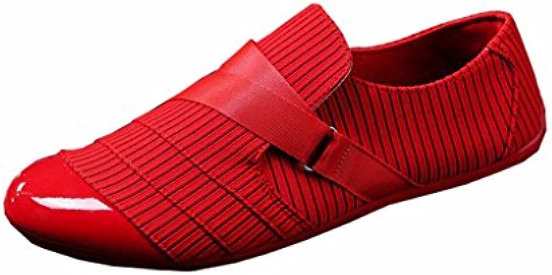 LIUXUEPING Temporada De Verano Transpirable Hombre Zapatos De Lona Zapatos Casuales Zapatos De Guisantes Lazy  -