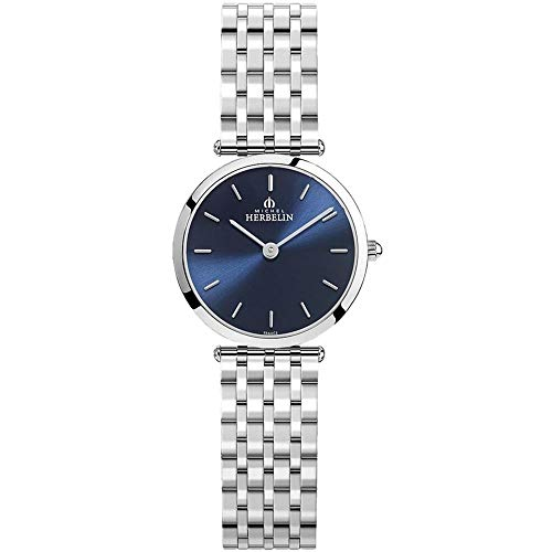 Michel Herbelin Epsilon Femme 28mm Saphire Quartz Montre 17116/b15