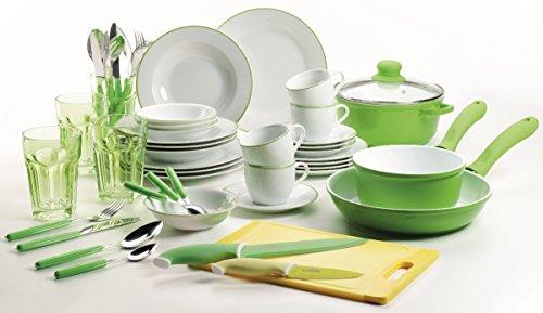 Domestic by Mäser Serie Telesto, Starterset 50-teilig, in der Farbe Grün