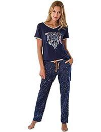 MASSANA Pijama de Mujer Largo Verano Azul