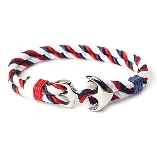 Infinite Style Ankla-Armband, zweifarbig, Rot/Blau / Weiß (Und Armbänder Blau Rot, Weiß)