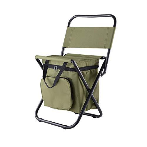 Sunneey Outdoor Klappstühle Angeln Rucksack Stuhl/Tragbare Camping Hocker/Klappstuhl mit Doppelschicht Oxford Stoff Kühltasche für Angeln/Strand/Camping/Haus/Outing