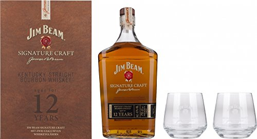 jim-beam-signature-craft-12-whiskey-70cl-in-gift-pack-with-2-glasses-limited-edition