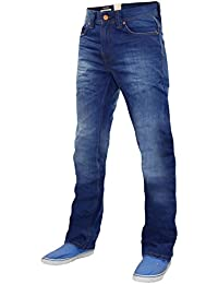 New Men's Designer Firetrap Straight Jeans Fit Denim Pants