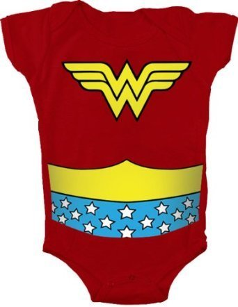 Wonder Kostüm Kleinkind Woman - TV Store Wonder Woman Uniform Kostüm rot Kleinkind Onesie Baby Strampler (24 Monate)