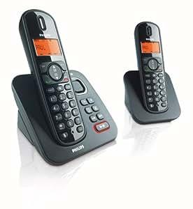 Philips - CD155 Duo - Téléphone sans fil avec répondeur