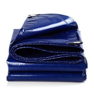 Sarazong Regendichte verdickte Plane im Freien Sonnenschutz-LKW Regenschutztuch PE-Plane RainTarpaulin Kunststofftuch mit 550 Gramm/Quadratmeter (Blau),3 * 4m