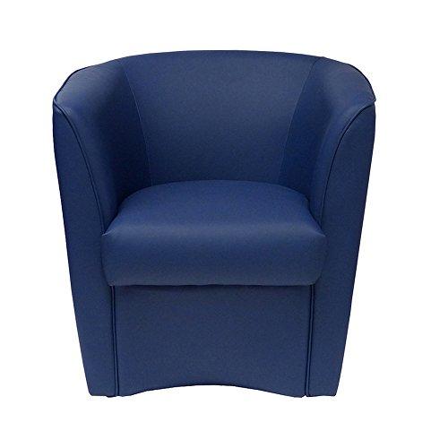 Sessel Blau aus Kunstleder für Küche Esszimmer Büro Schlafzimmer Kinderzimmer