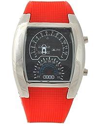 LEORX Reloj LED deportivo - coche Dashboard diseño resistente al agua reloj  (rojo) 3203ed092d0e