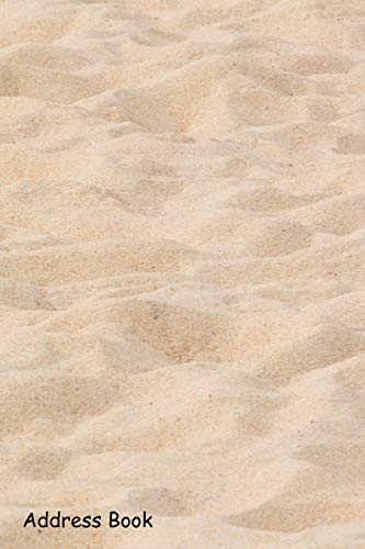 Address Book: For Contacts, Addresses, Phone, Email, Note,Emergency Contacts,Alphabetical Index With Sand texture on the beach