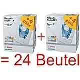 BOSCH BBZ123 FP 24 Staubsaugerbeutel SuperTEX TYP P BBZ123FP