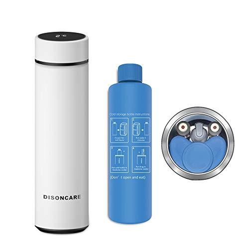Dison Care Insulin-Kühler-Tasche Tragbare Insulin-Tasche Travel Keep Chilled Meds bei 2-8 Grad, LED-Temperaturanzeige Insulin-Kühler Travel Case White