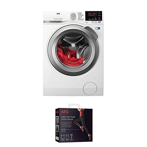 AEG L6FBA48 Waschmaschine Frontlader/Energieklasse A+++(137,0 kWh/Jahr)/leiser Waschautomat mit 8 kg XXL ProTex Schontrommel + Kit für Sportbekleidung und Schuhe (9029797108) -