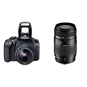 Canon - Pack EOS 1300D + EF-S 18-55mm IS II + Objectif Tamron AF 70-300mm