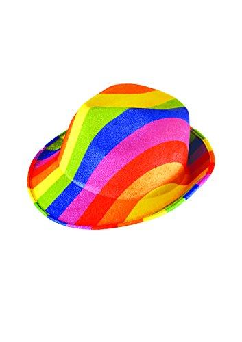Adult Rainbow Felt Gangster Hat Fancy Dress Accessory (Gay Kostüme Für Halloween)