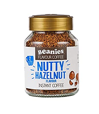 Beanies Nutty Hazelnut Flavoured Instant Coffee 50 g (Pack of 6)