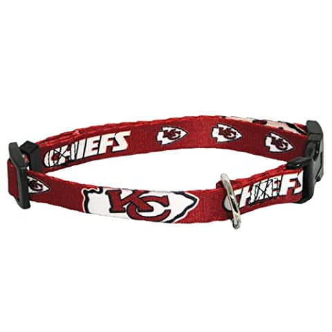 Hunter MFG Kansas City Chiefs Dog Collar, Extra Small